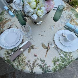"""Tessitura Toscana Telerie, rectangular linen tablecloth """"Fabuleux"""""""