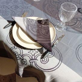 "Table napkins  Sud Etoffe ""Barcelone"" grey"