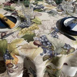 "Tessitura Toscana Tellerie, rectangular linen tablecloth ""Doucers"""