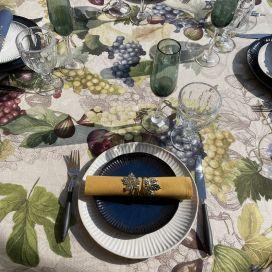 "Tessitura Toscana Telerie, nappe carrée en lin ""Doucers"""