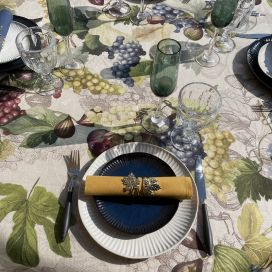 """Tessitura Toscana Tellerie, square linen tablecloth """"Doucers"""""""