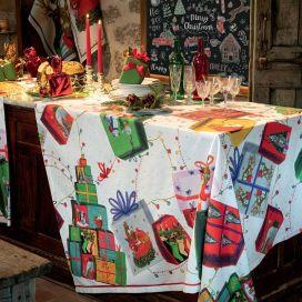 "Tessitura Toscana Tellerie, rectangular coton tablecloth ""Sweet Fox"""
