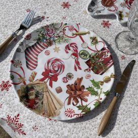 "Michel Design Works ""Peppermint"" Melamine Casual dinner plate"