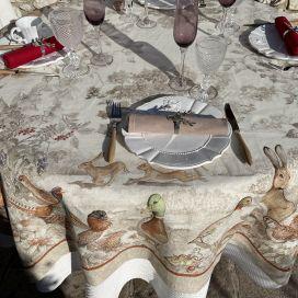 """Tessitura Toscana Telerie, nappe en lin """"Norma"""""""
