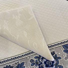 "Set of 10 damask Jacquard table napkins ""Garrigue"" ecru"