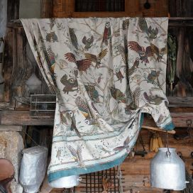 "Mezzeri ""Bubo"" decorative cloths by Tessitura Toscana Telerie"