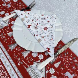 """Cotton table napkins """"Cervin"""" ecru, grey"""