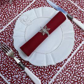 """Set de table en coton matelassé """"Ondine"""" rouge"""