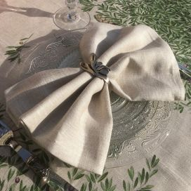 Tessitura Toscana Telerie, linen table napkin cream color