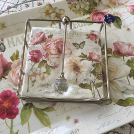 Paper napkins holder DIAMONT, silvery metal