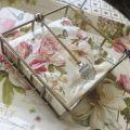 Paper napkins holder DIAMONT, silvery metal
