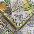 Porte-Serviettes  DIAMANT, métal argenté sur plateau en verre