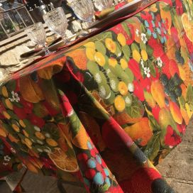 "Printed cotton tablecloth ""Tutti Frutti"""