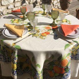 """Tessitura Toscana Telerie, nappe en lin  """"Sevillana"""""""