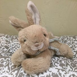 Peluches Bukowski - Lapin BUSTER taupe