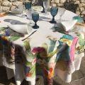 "Tessitura Toscana Telerie, nappe en lin  ""KAKTUS"""