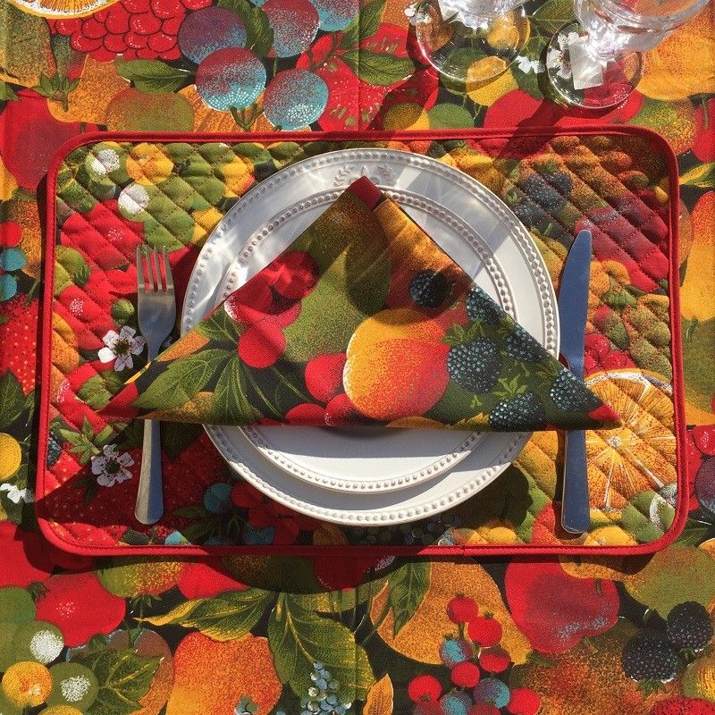Quilted coton placemat Tutti Frutti