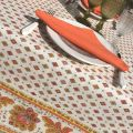 "Provence rectangular tablecloth in cotton ""Mirabeau"" orange"