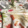 """Tessitura Toscana Tellerie, linen tablecloth """"Coquelicots"""""""