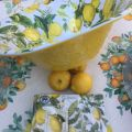 "Michel Design Works - ""LEMON BASIL"" Melanine large bowl"