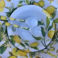 "Michel Design Works - ""LEMON BASIL"" Melanine serving set"