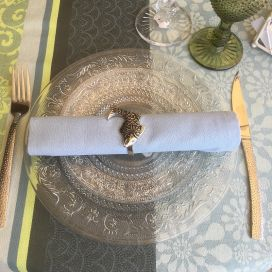 "Silvery metal napkins ring ""Fish"""