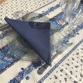 """Nappe en  coton enduit """"Tradition"""" bleue et blanche Marat d'Avignon"""