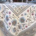 "Jacquard-webbed tablecloth  ""Seillans"" blue, Tissus Toselli"