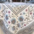 "Rectangular Jacquard tablecloth  ""Seillans"" blue, Tissus Toselli"