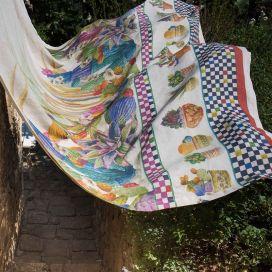 Grand Foulard- Mezzeri KAKTUS - Tessitura Toscana Telerie