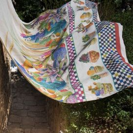 MEZZERI  KAKTUS - Decorative Cloths  TESSITURA TOSCANA TELERIE