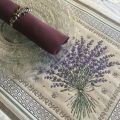 "Provence Jacquard placemat, Olives and lavender ""Castillon"" from Tissus Toselli in Nice"