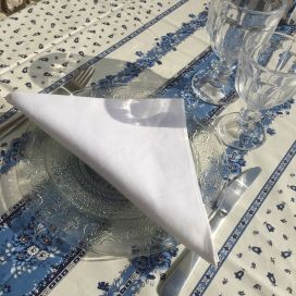"Serviette de table en coton ""Coucke"", uni blanc"