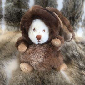 Peluches Bukowski - Ziggy winter rabbit chocolat