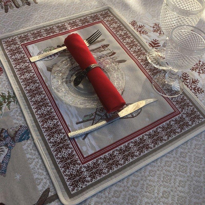 "Set de table Jacquard ""Lugeur""  Tissus Toselli, Nice"