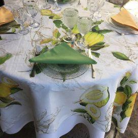 """Tessitura Toscana Telerie, nappe en lin  """"Limoncello"""""""