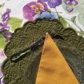 "BLANC MARICLO, set de table ovale en Boutis vert ""Lindsay"""