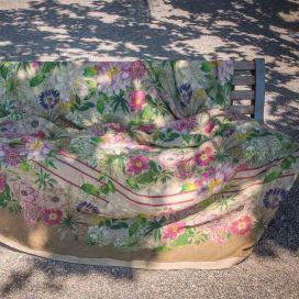 Grand Foulard -mezzeri LA VIE EN ROSE - Tessitura Toscana Telerie