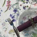 "Rectangular coated cotton tablecloth ""Fortuna"""