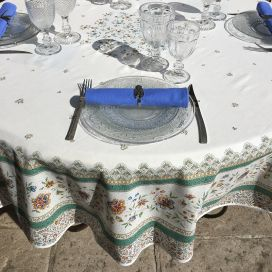 "Provence round tablecloth in cotton ""Beaucaire"""