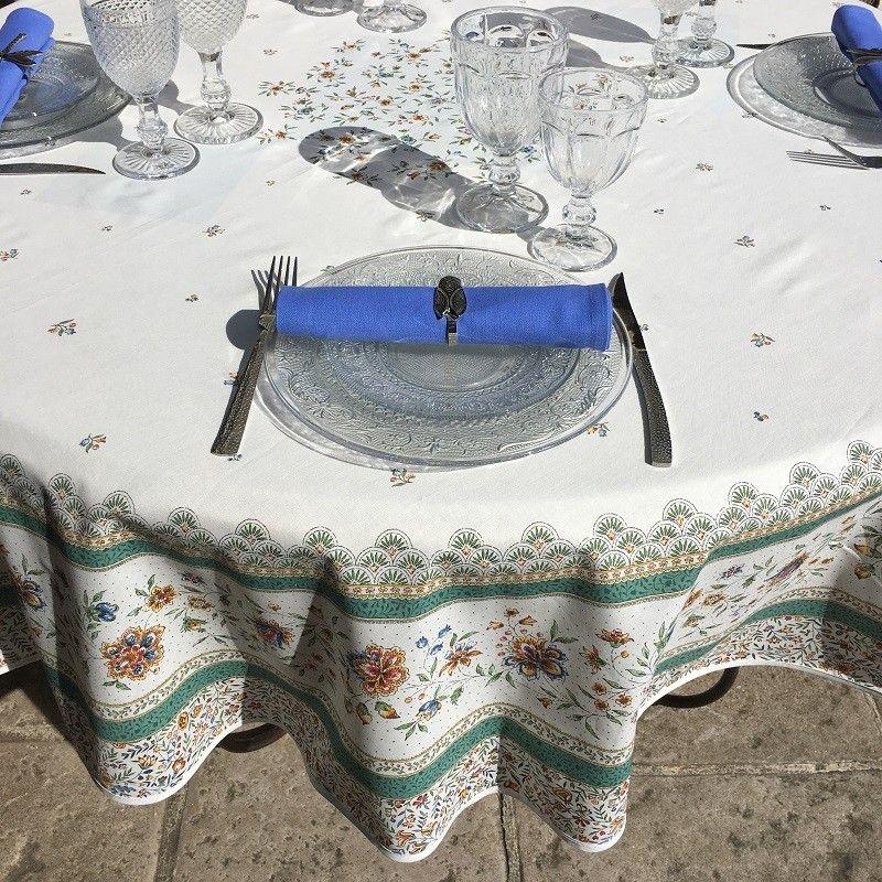 """Nappe provençale ronde en coton """"Beaucaire"""""""