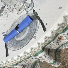 """Nappe provençale ronde en coton enduit """"Beaucaire"""""""
