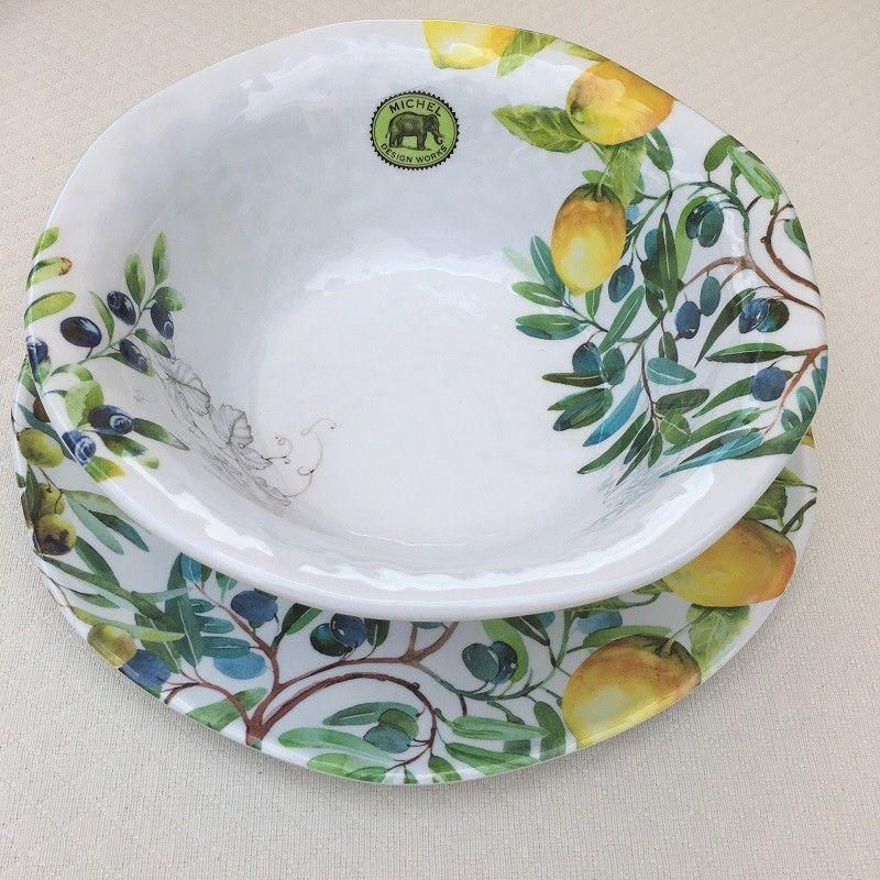 "Michel Design Works - ""TUSCAN GROVE"" Melanine medium bowl"