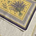 """Provence Jacquard placemat, Olives and lavender """"Castillon"""" yellow from Tissus Toselli in Nice"""