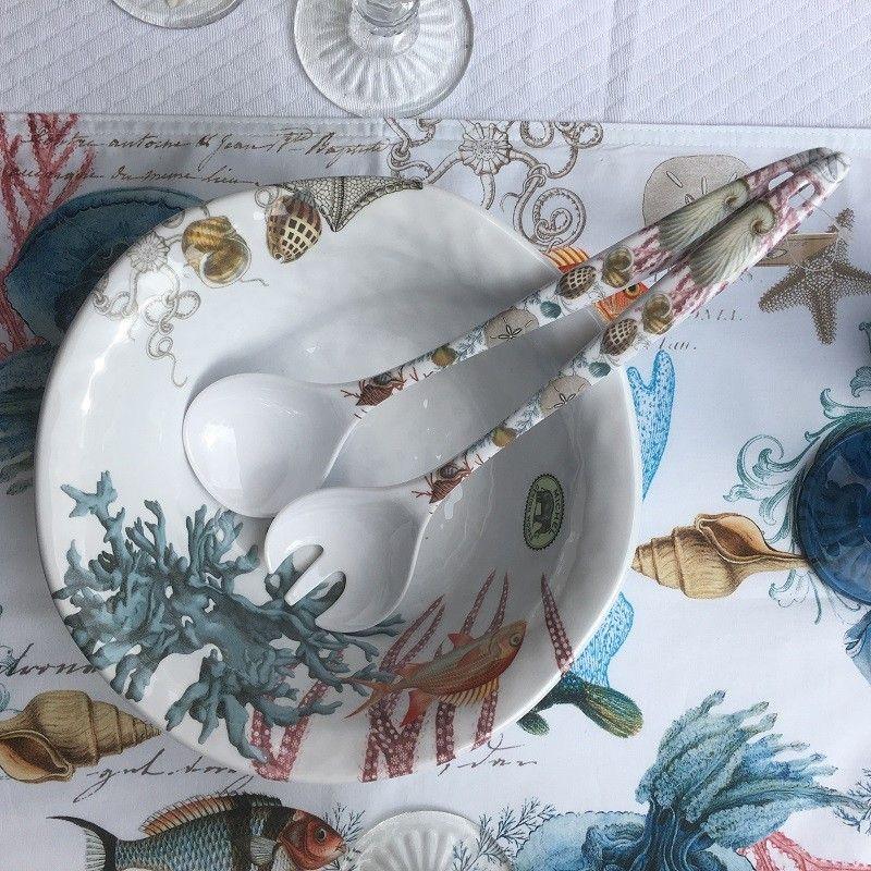 "Michel Design Works - ""SEE LIFE"" Melanine medium bowl"
