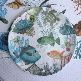 "Michel Design Works - ""SEE LIFE"" Melamine Casual dinner plate"