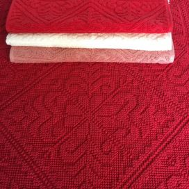 "Bath mat La Vivaraise ""Enzo"" cherry red"