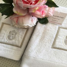 "Guillaume d'Aix, Guest hand towel ""Bastide"" white"