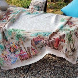 "Tessitura Toscana Telerie, linen tablecloth ""Souk"""