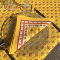 "Cotton napkin ""Mirabeau"" yellow and red"